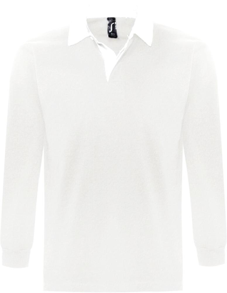 Рубашка поло мужская с длинным рукавом PACK 280 белая