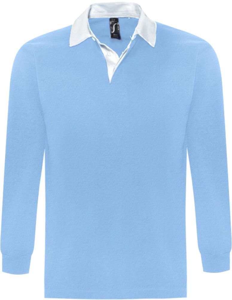 Рубашка поло мужская с длинным рукавом PACK 280 голубая