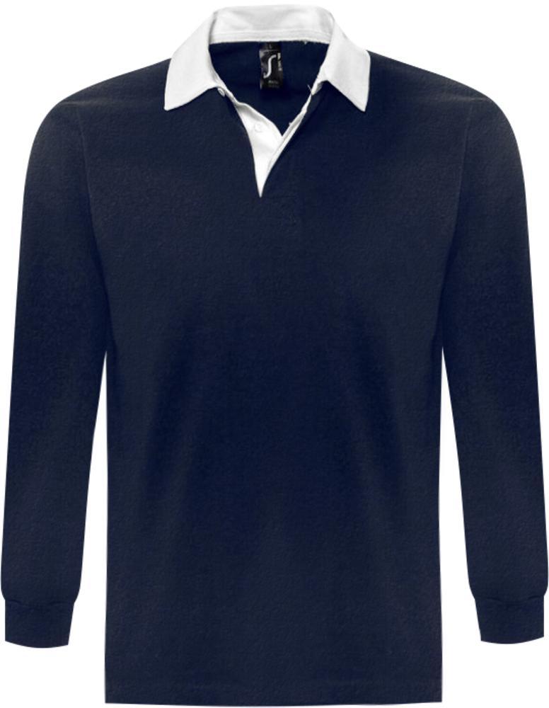 Рубашка поло мужская с длинным рукавом PACK 280 темно-синяя