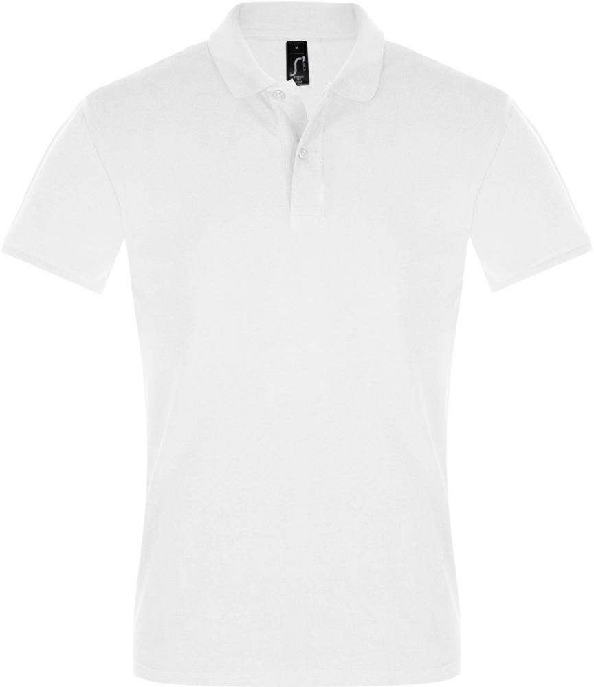 Рубашка поло мужская PERFECT MEN 180 белая