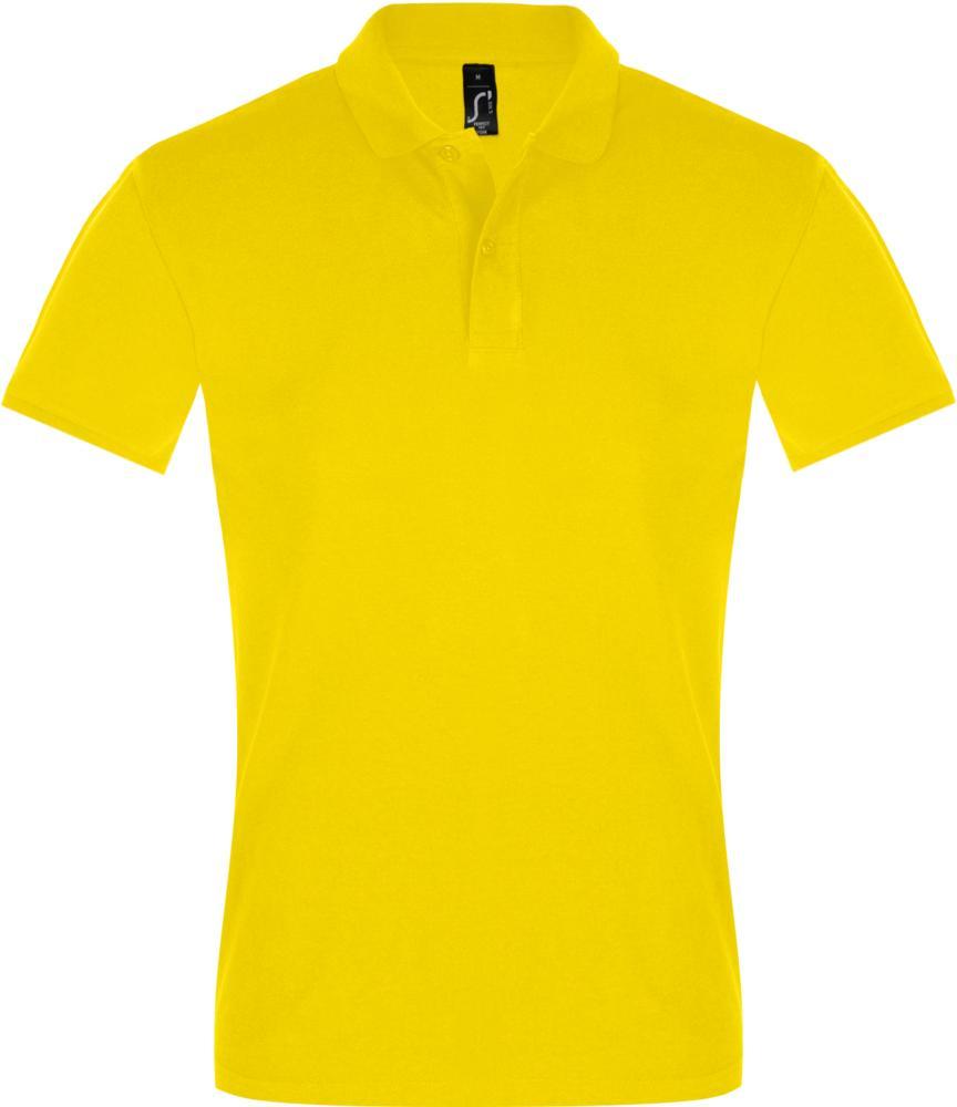 Рубашка поло мужская PERFECT MEN 180 желтая