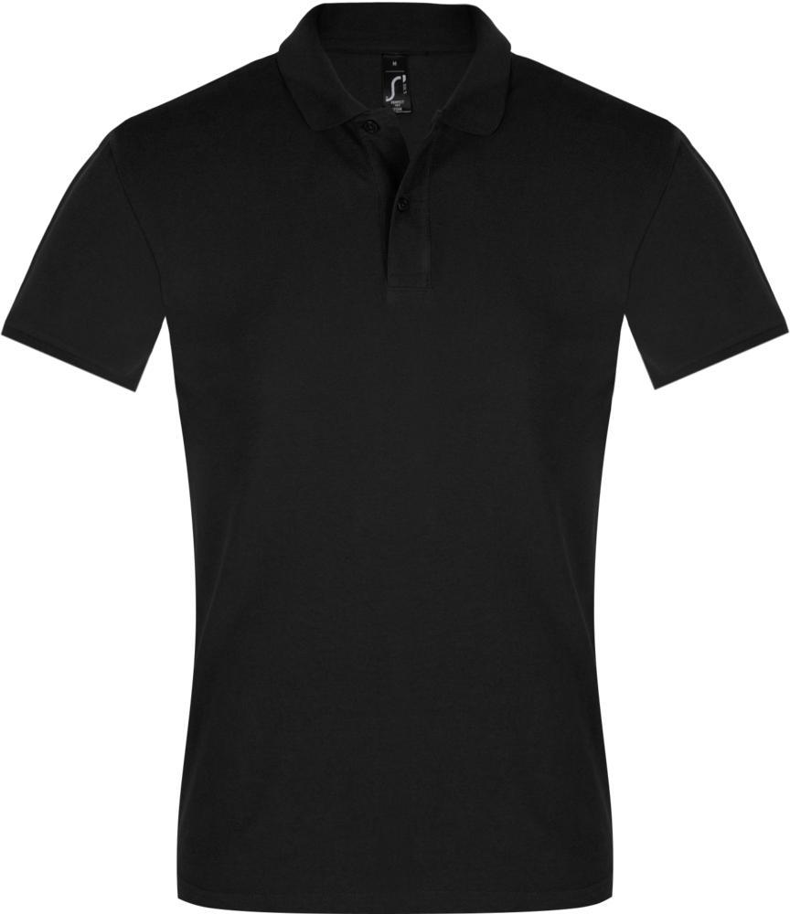 Рубашка поло мужская PERFECT MEN 180 черная