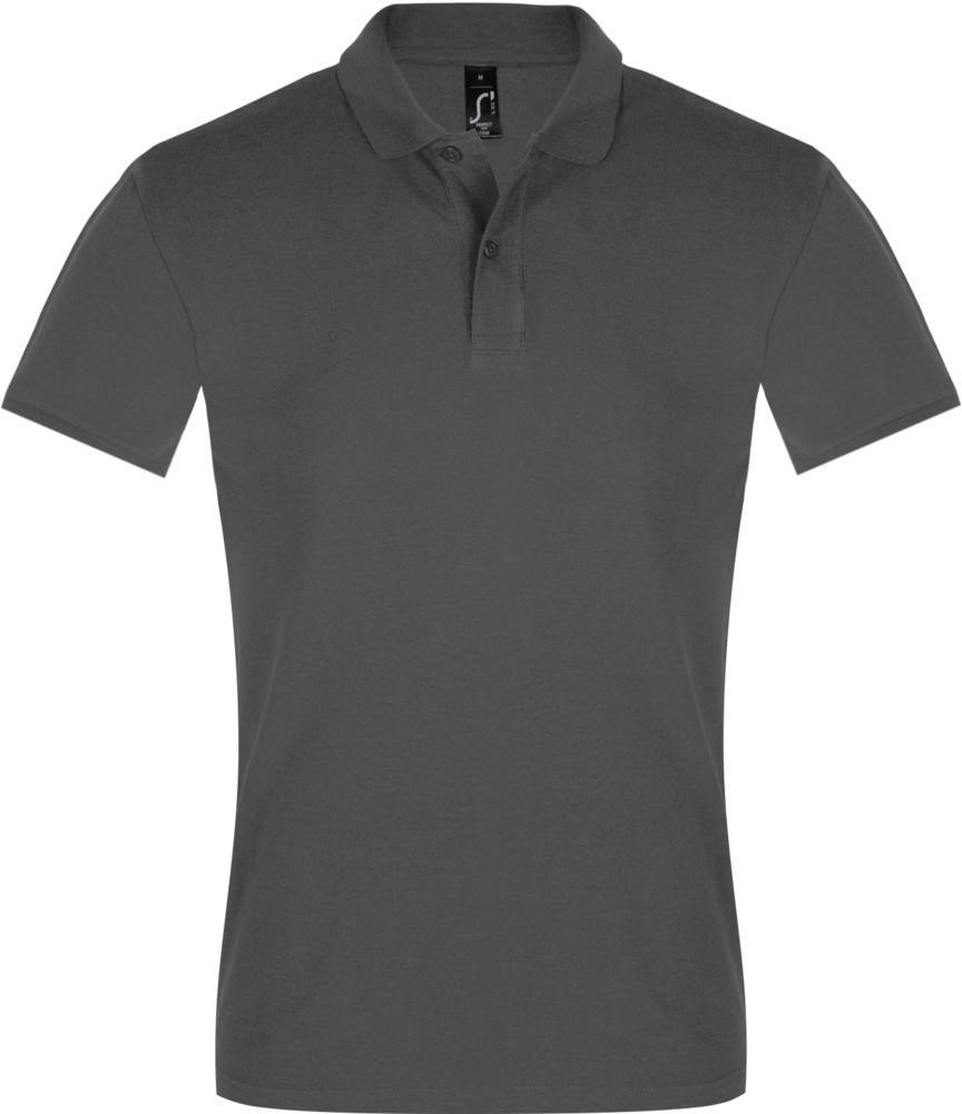 Рубашка поло мужская PERFECT MEN 180 темно-серая