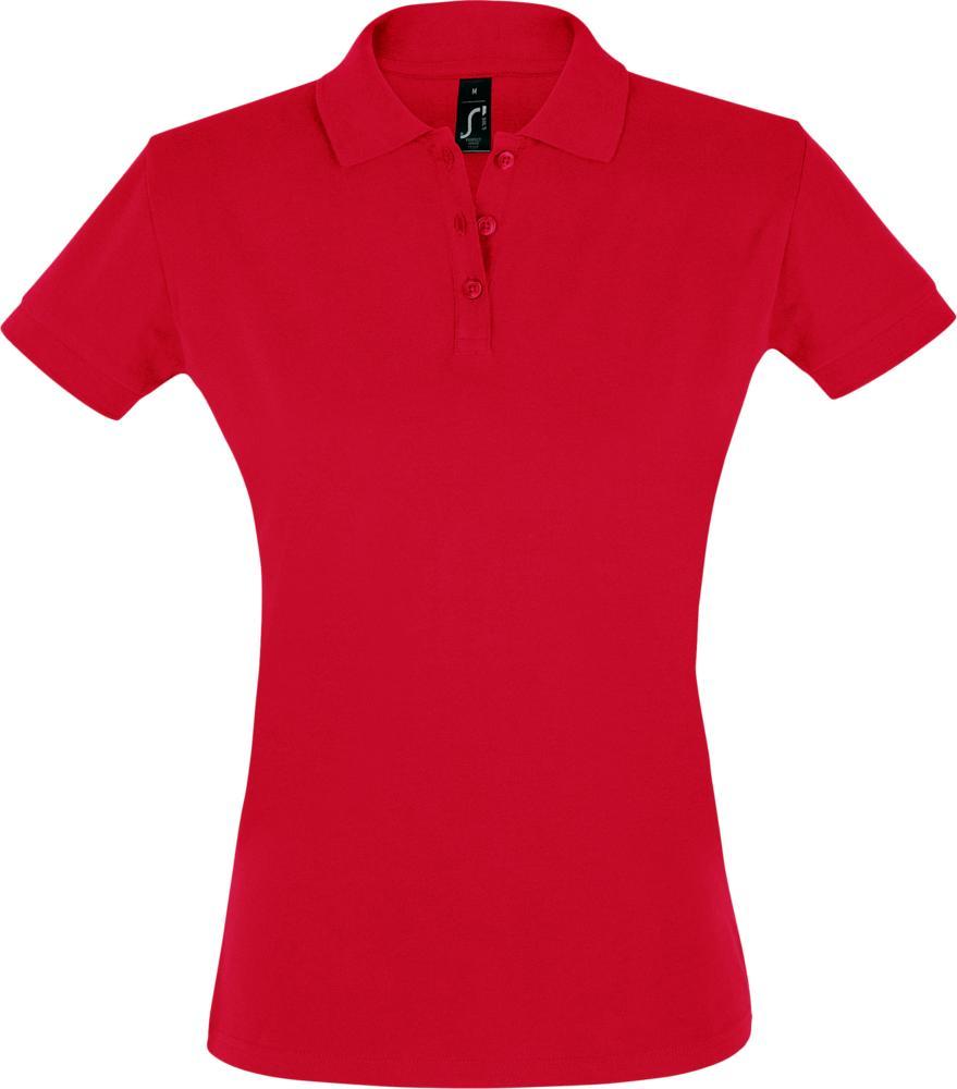 Рубашка поло женская PERFECT WOMEN 180 красная
