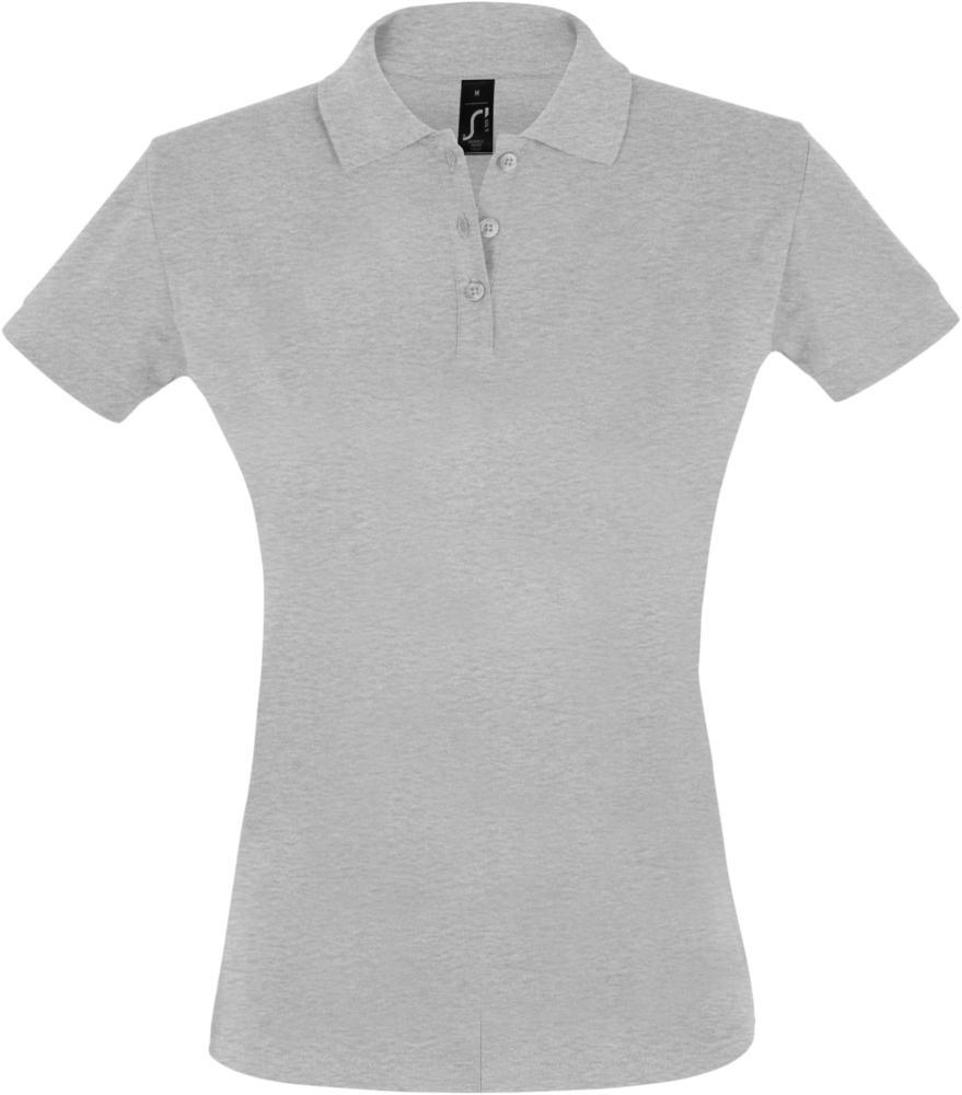 Рубашка поло женская PERFECT WOMEN 180 серый меланж