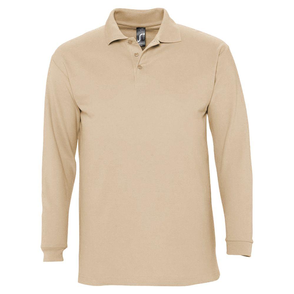 Рубашка поло мужская с длинным рукавом WINTER II 210 бежевая