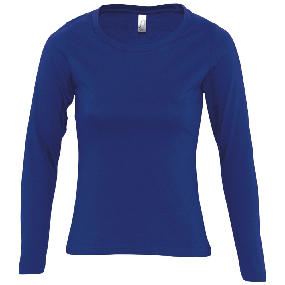 Футболка женская с длинным рукавом MAJESTIC, синий ультрамарин