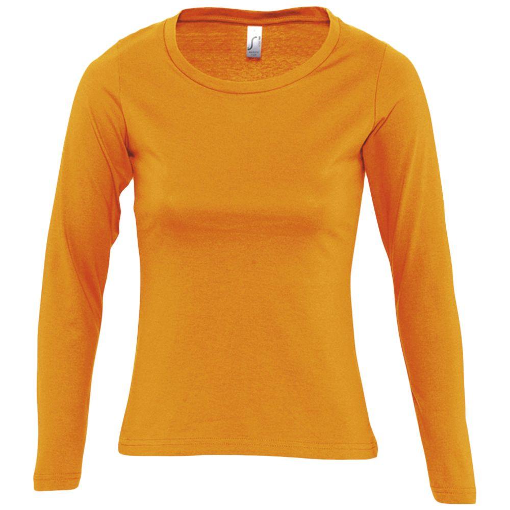 Футболка женская с длинным рукавом MAJESTIC 150, оранжевая