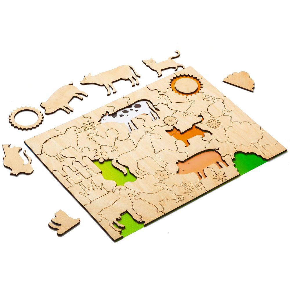 Развивающий эко-пазл Wood Games, ферма