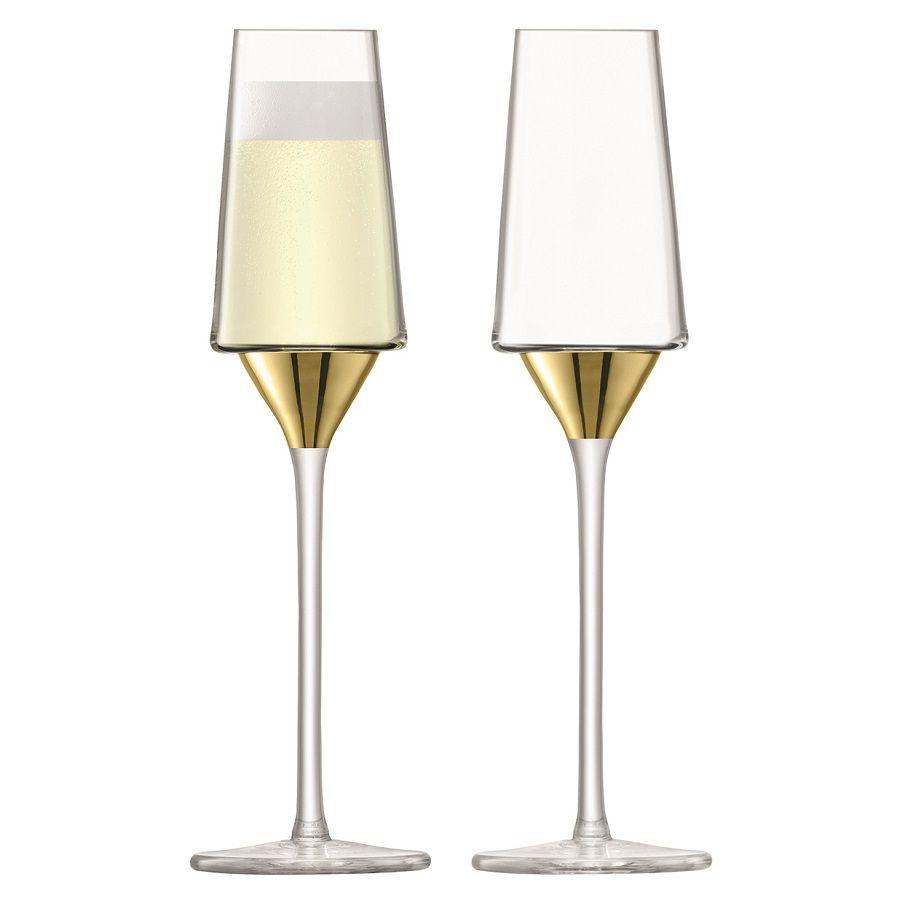 Набор бокалов для шампанского Space, золотистый