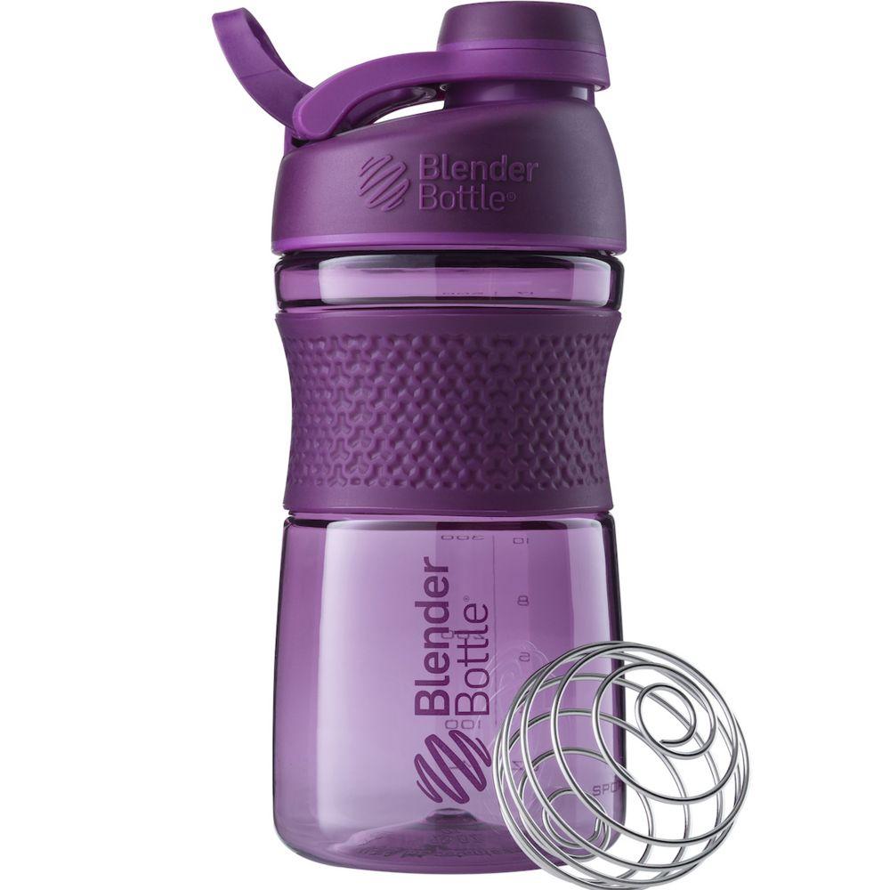 Спортивный шейкер SportMixer Twist Cap, фиолетовый (сливовый)