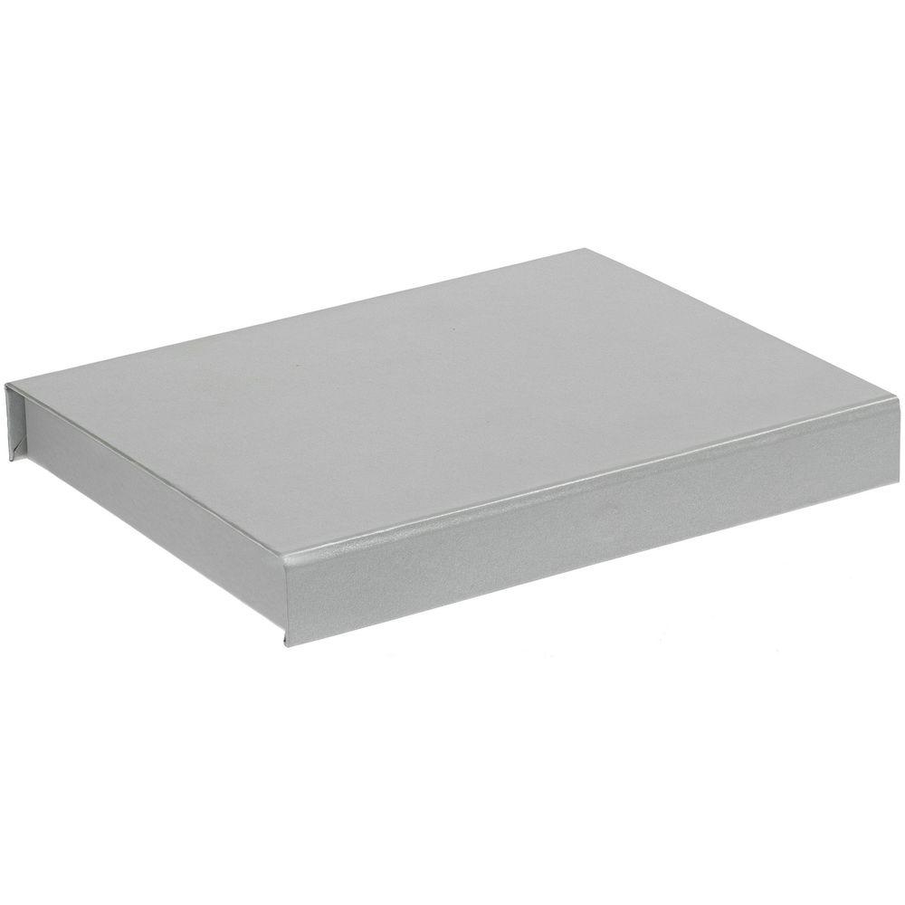 Коробка Rime под блокнот и ручку, серебристая