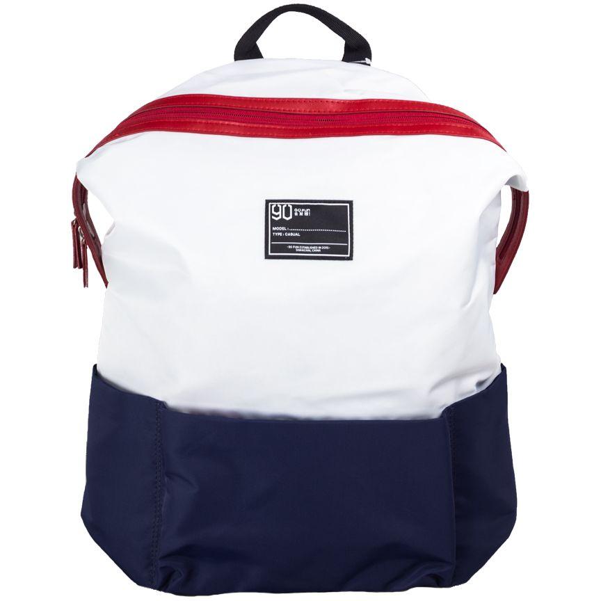 Рюкзак для ноутбука Lecturer Leisure Backpack, белый с темно-синим