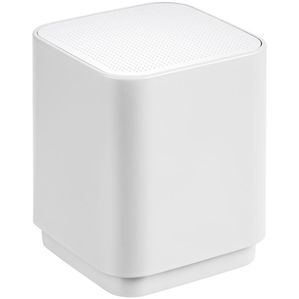 Беспроводная колонка с подсветкой логотипа Glim, белая