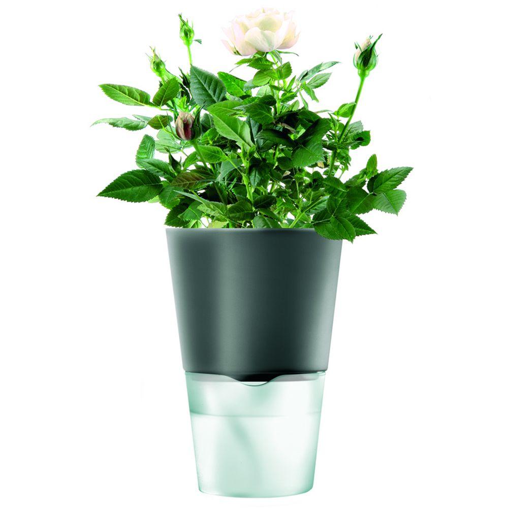 Горшок для растений Flowerpot, фарфоровый, серый