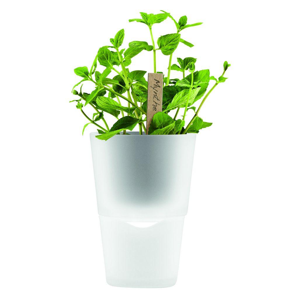 Горшок для растений Flowerpot, фарфоровый, белый