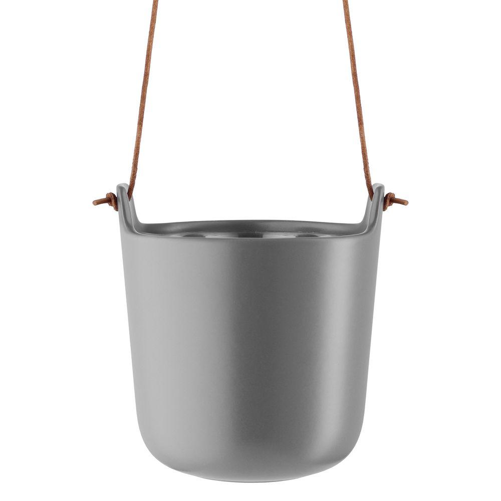 Горшок для растений Flowerpot, подвесной, серый