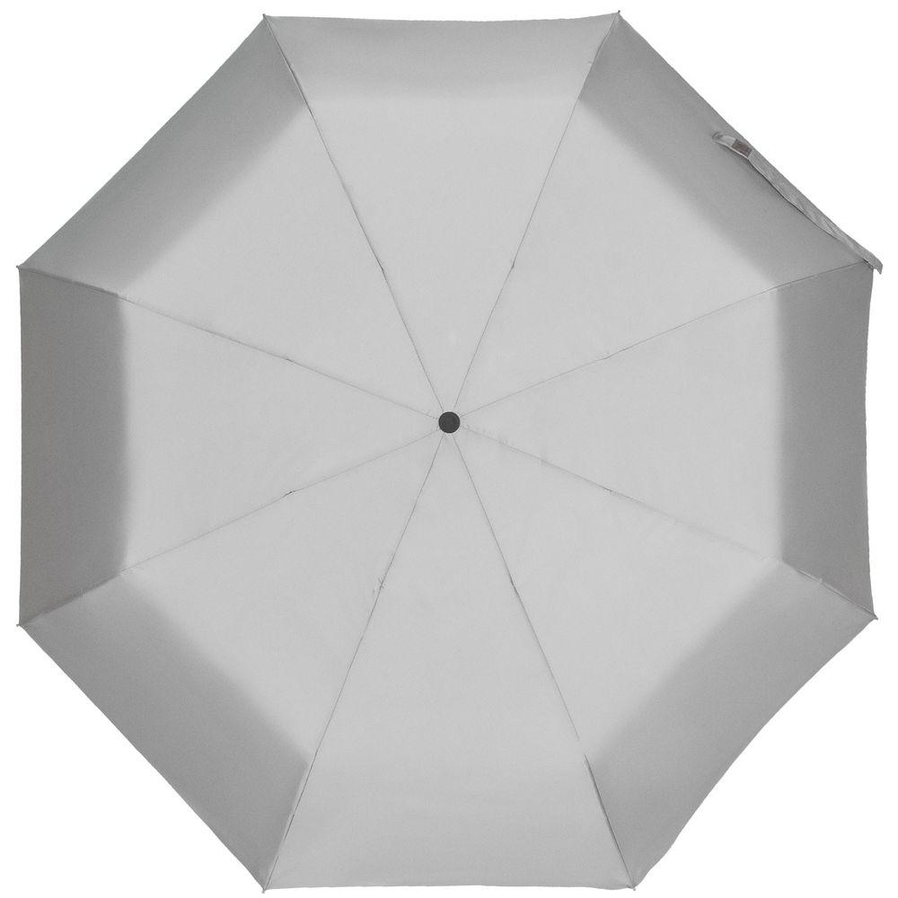Зонт складной Manifest со светоотражающим куполом, серый