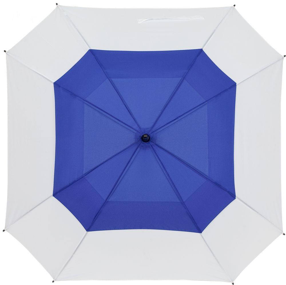 Квадратный зонт-трость Octagon, синий с белым