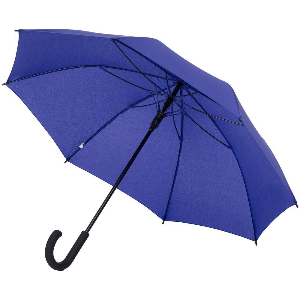Зонт-трость с цветными спицами Bespoke, синий