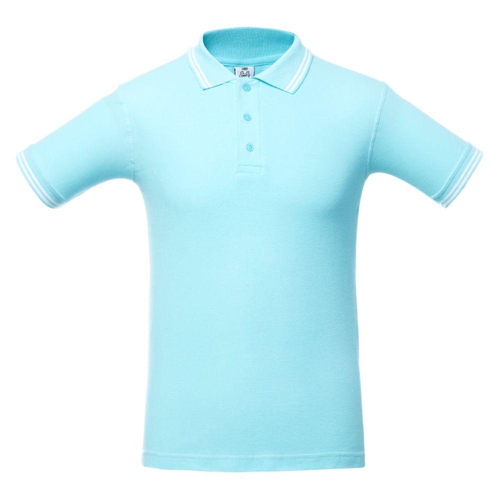 Рубашка поло Virma Stripes, светло-бирюзовая