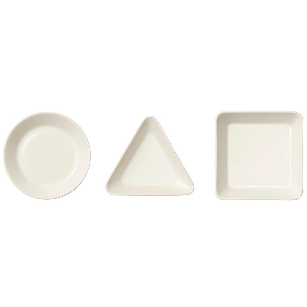 Набор Teema из трех тарелок, белый