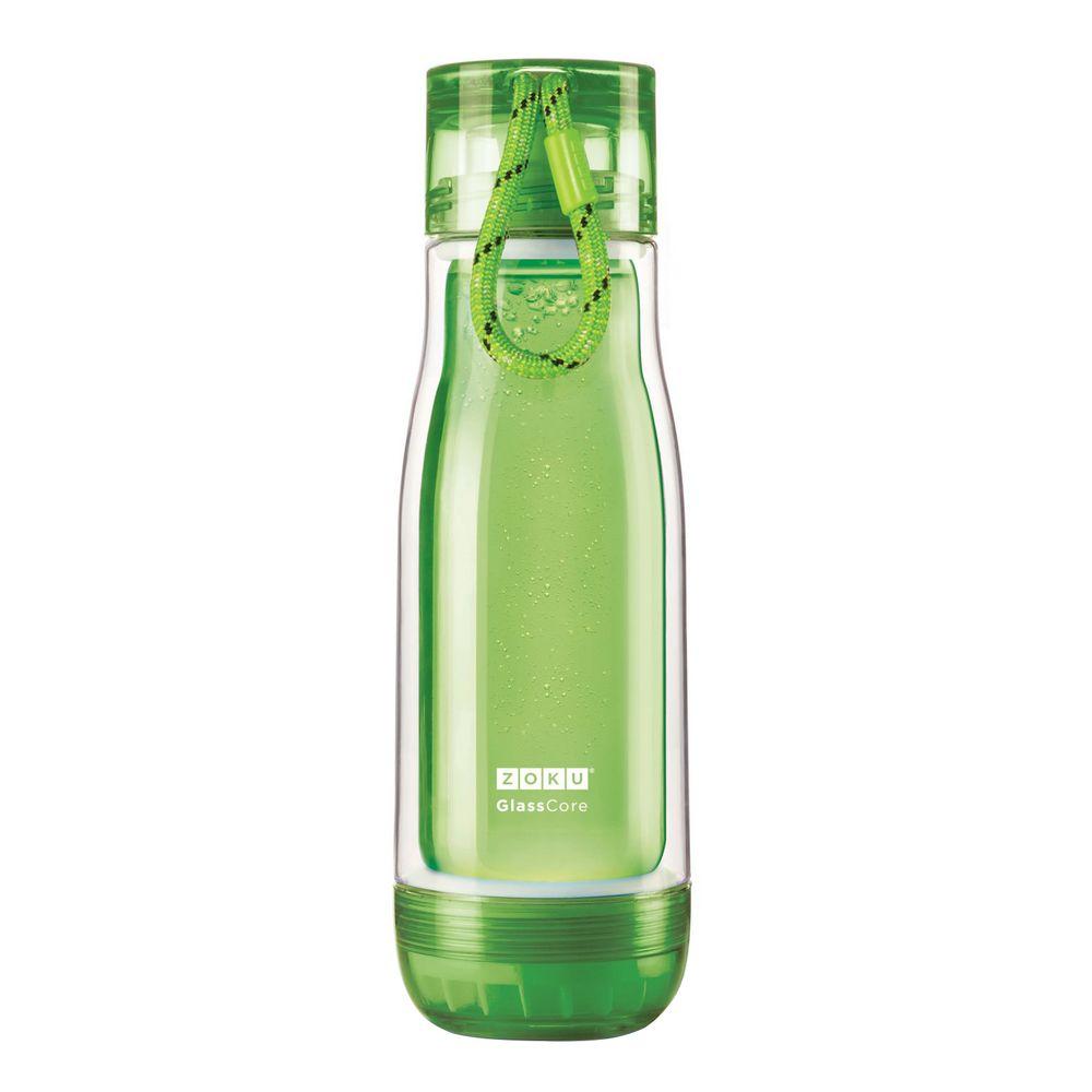 Бутылка для воды Zoku, зеленая