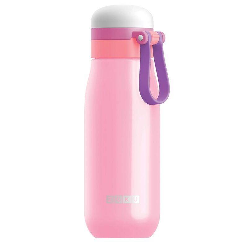 Вакуумная бутылка для воды Zoku, розовая