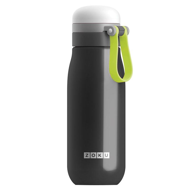 Вакуумная бутылка для воды Zoku, черная