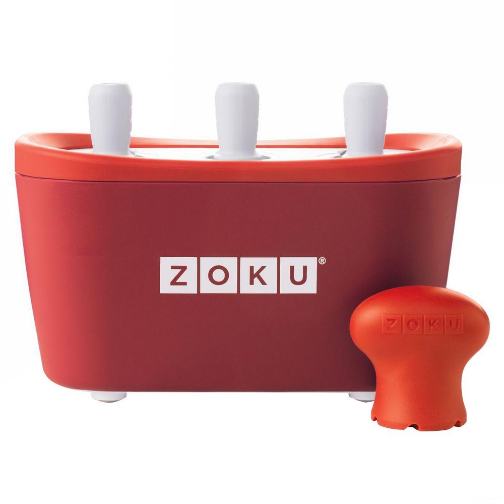 Набор для приготовления мороженого Triple Quick Pop Maker, красный
