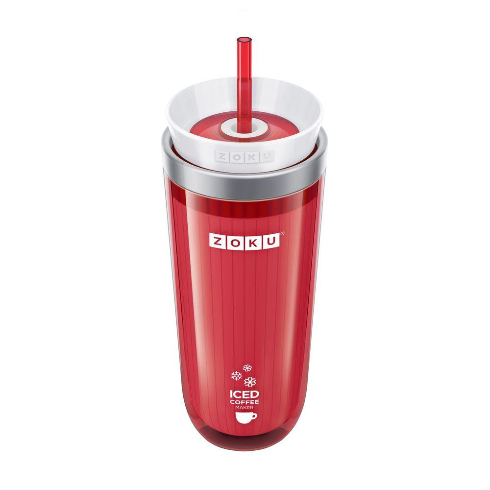 Стакан для охлаждения напитков Iced Coffee Maker, красный