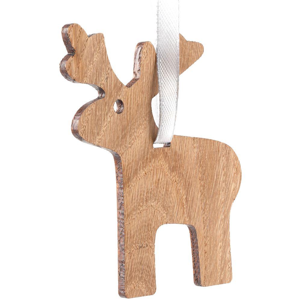 Деревянная подвеска Carving Oak, в форме лося