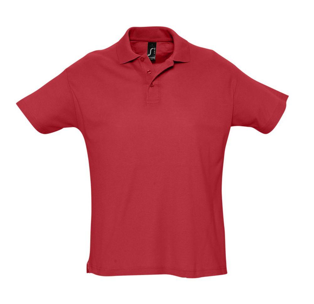 Рубашка поло мужская SUMMER 170, красная