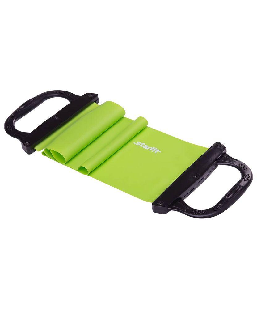 Эспандер ленточный c жесткими ручками Straight, зеленый