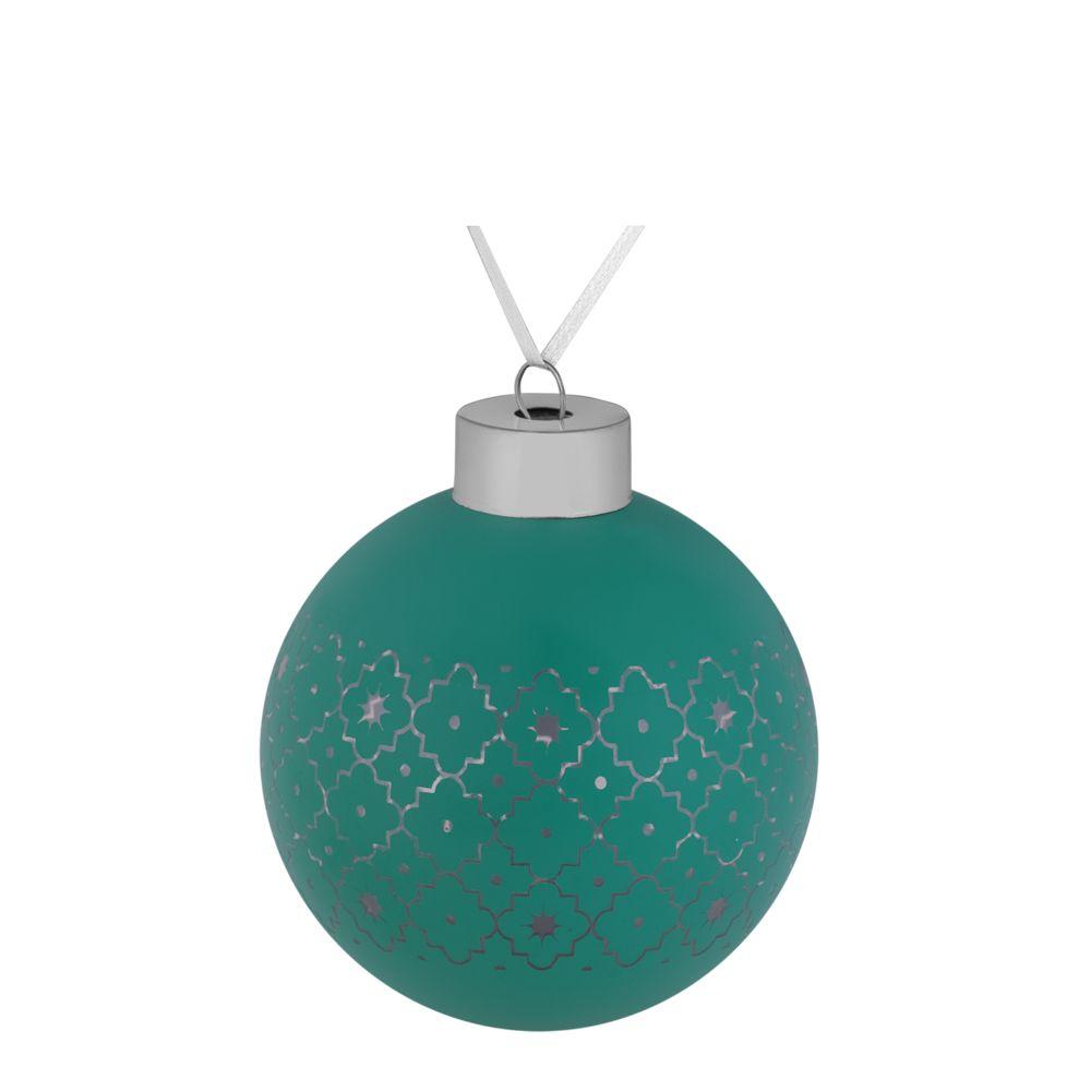 Елочный шар Chain, 8 см, зеленый