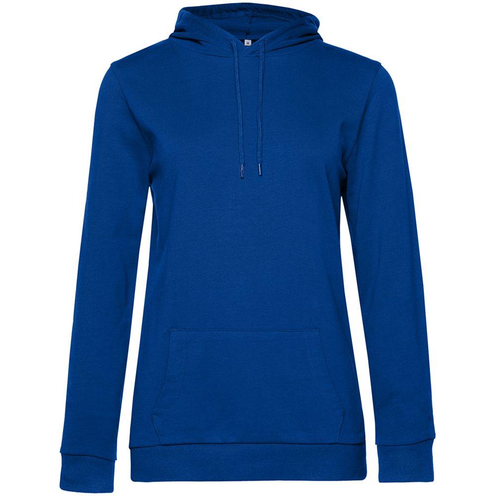 Толстовка с капюшоном женская Hoodie, ярко-синяя
