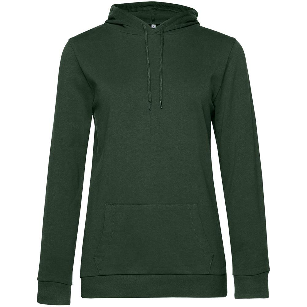 Толстовка с капюшоном женская Hoodie, темно-зеленая