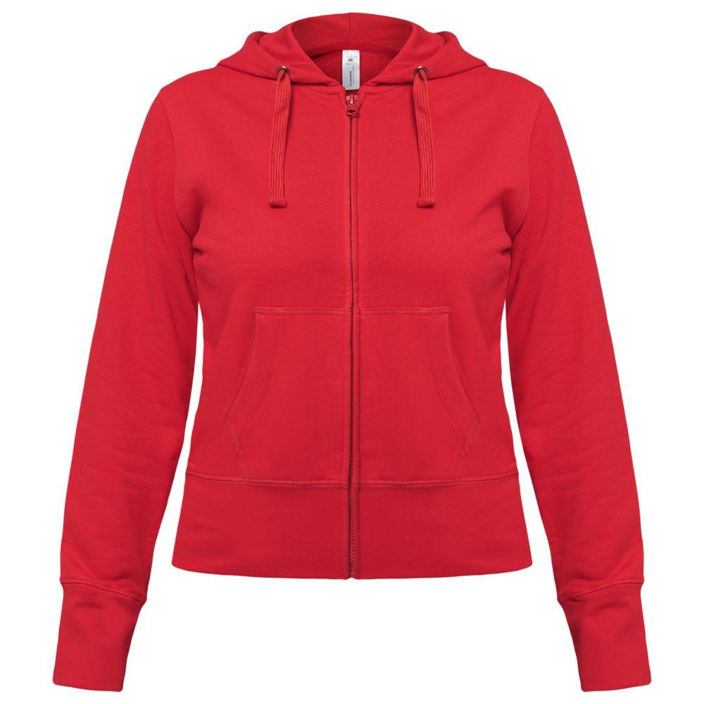 Толстовка женская Hooded Full Zip красная