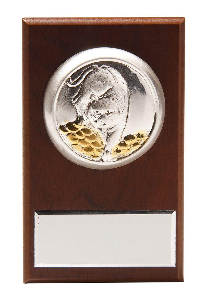 Плакетка малая «Тигр на монетах» с возможностью персонализации