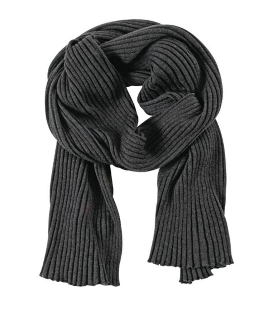 Шарф Mono, черно-серый