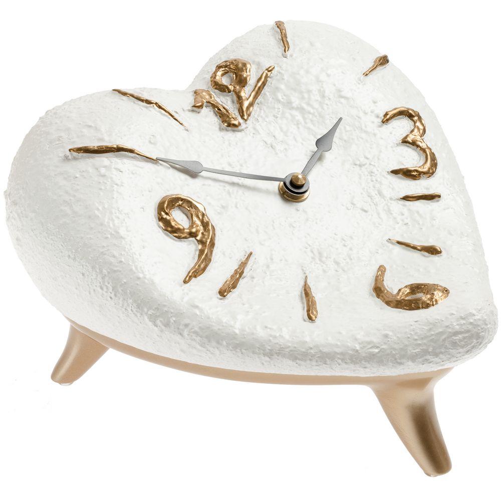 Часы «Сердце», бело-золотые