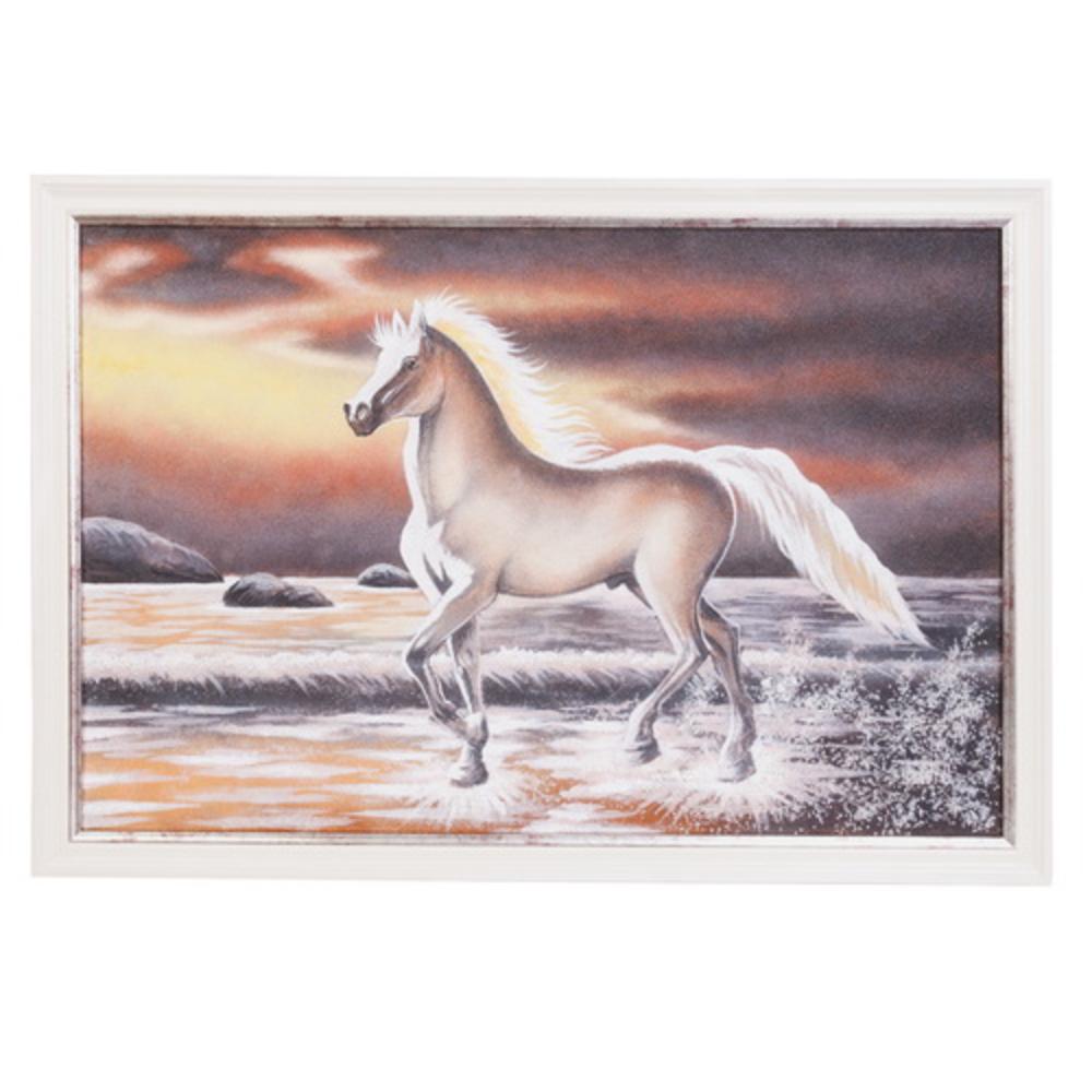 Картина «Лошадь» в серебристой раме